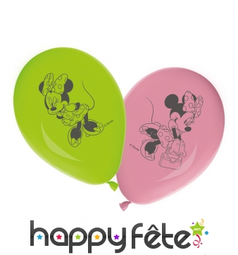 Ballons ronds imprimé Minnie Mouse