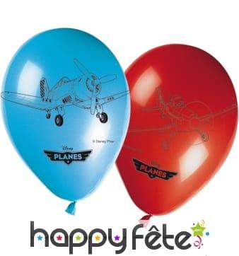 Ballons ronds imprimé Planes
