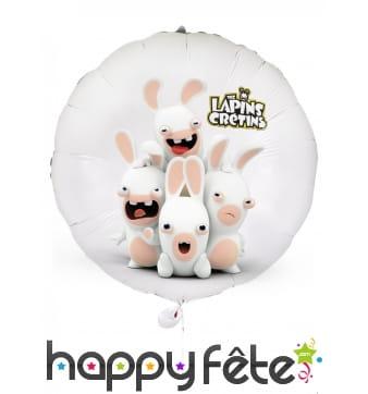 Ballon rond Lapins Crétins de 40cm