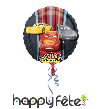 Ballon rond musical Cars de 71 cm
