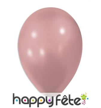 Ballons roses métallisés de 30 cm