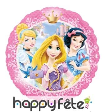 Ballon rond plat des princesses Disney
