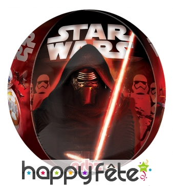 Ballon rond Star wars Kylo ren