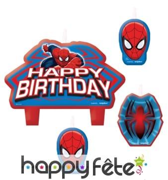 Bougies Spiderman