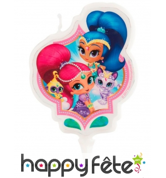 Bougie Shimmer and Shine d'anniversaire, 7cm