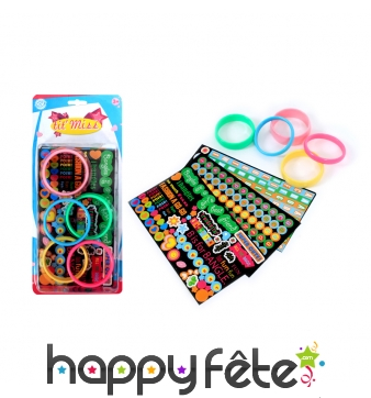 Bracelets stickers à décorer