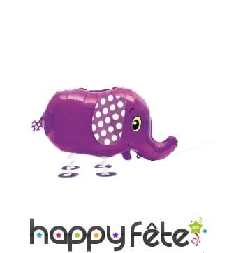 Ballon silhouette d'éléphant violet, 81 cm