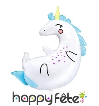 Ballon silhouette de licorne sur le dos, 70 x 75cm