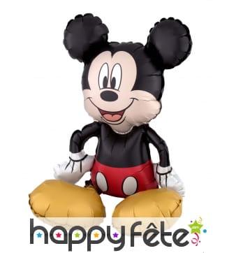 Ballon silhouette de Mickey Mouse assis de 45 cm