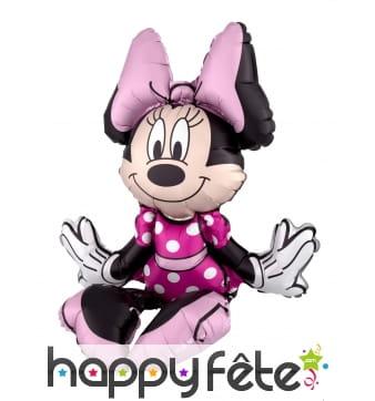Ballon silhouette de Minnie Mouse assise de 45 cm