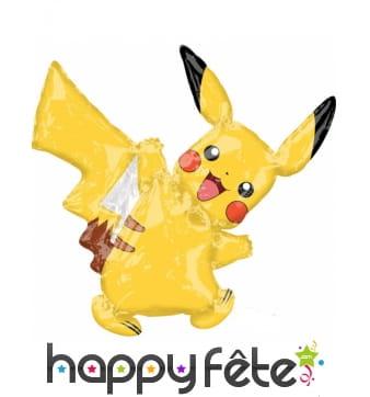 Ballon silhouette de Pikachu, 27 x 33 cm