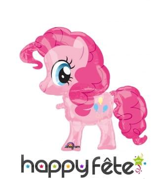 Ballon silhouette de Pinkie Pie rose, 66 x 73 cm