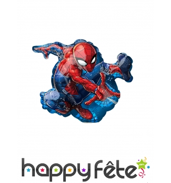 Ballon silhouette de Spiderman, 25 cm