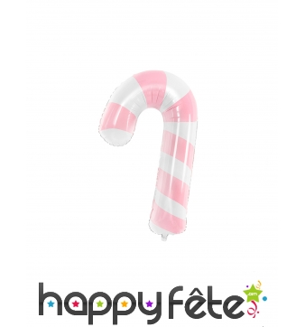 Ballon sucre d'orge de 74 cm, rose et blanc