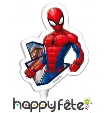 Bougie Spiderman de 7,5 cm