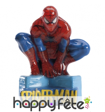 Bougie Spiderman décorative