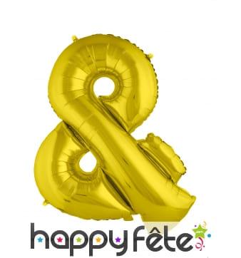 Ballon symbole et doré de 80cm