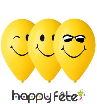 Ballons smiley jaune