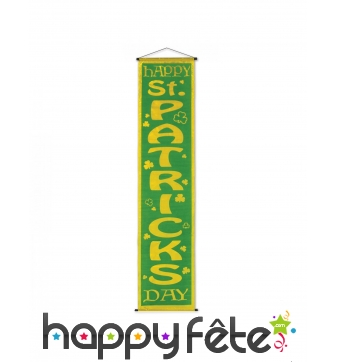 Banderole Saint Patrick à suspendre, 30 x 121 cm