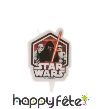 Bougie Star Wars rouge et noire de 8 cm
