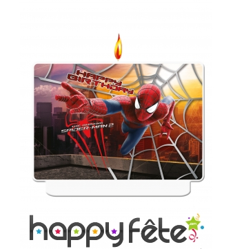 Bougie The Amazing Spiderman pour anniversaire