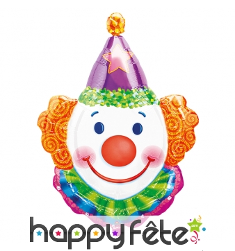 Ballon tête de clown, à gonfler