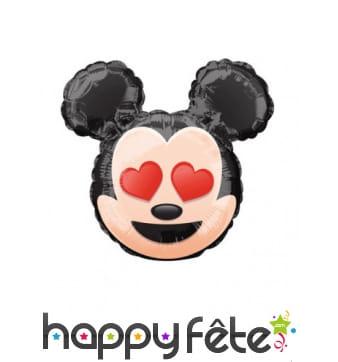 Ballon tête de Mickey Mouse émoji de 22 cm