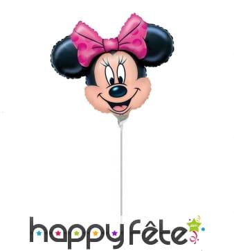 Ballon tête de Minnie en aluminium