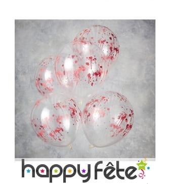 Ballons transparents ensanglantés de 30cm