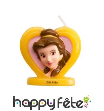 Bougie visage de Belle en 3D coeur, 5,5 cm
