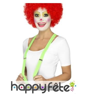 Bretelles vertes de clown