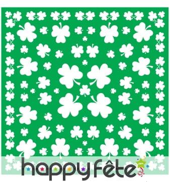 Bandana vert imprimé trèfles, Saint Patrick