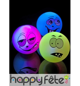 Balles visages monstres lumineuses