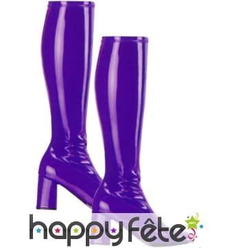 Bottes violette/mauve de gogo