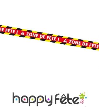 Banderole Zone de fête style warning, 9m
