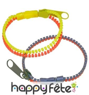 Bracelet zip deux couleurs