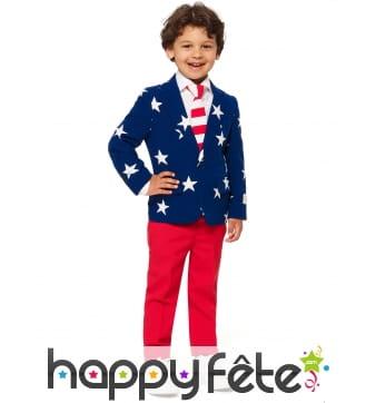 Costume 3 pièces Amérique pour enfant
