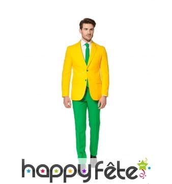 Costume 3 pièces aux couleurs du Brésil