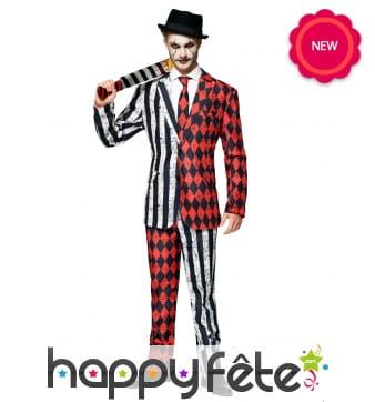 Costume 3 pièces d'Arlequin Halloween pour homme