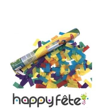 Canon à confettis multicolores de 40 cm