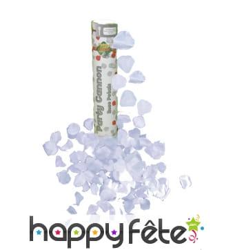Canon à confettis pétales blancs