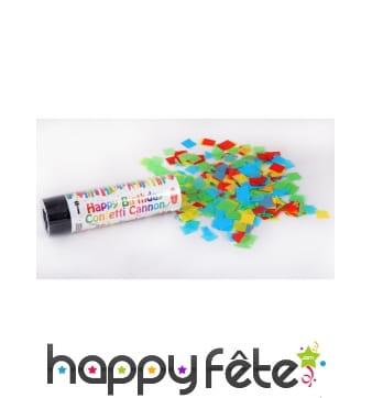 Canon à confettis pour anniversaire de 15 cm