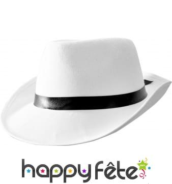 Chapeau Al capone blanc