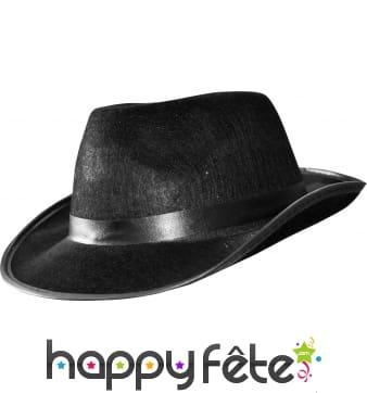 Chapeau Al capone noir