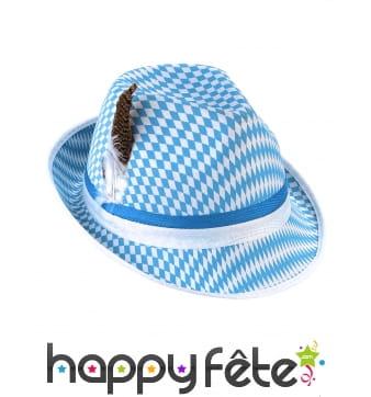 Chapeau aux couleurs du drapeau bavarois