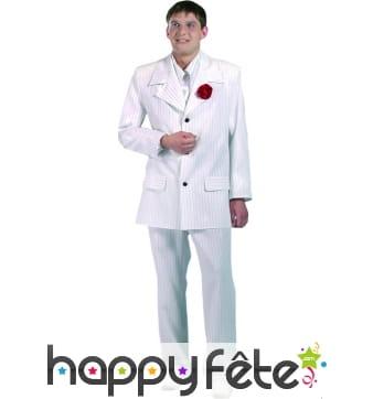 Costume al capone blanc