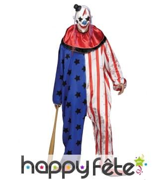 Combinaison adulte de clown tueur