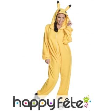 Combinaison adulte de Pikachu avec capuche