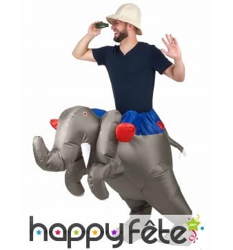 Costume à dos de éléphant gonflable