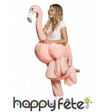 Costume à dos de flamant rose pour adulte